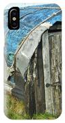 old boat hut at Lindisfarne island IPhone Case