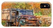 Old Farm Truck Fall Foliage Vermont Square IPhone X Case