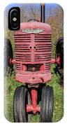 Old Farmall Vintage Tractor Springfield Nh IPhone X Case