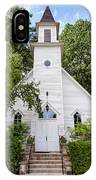 Old Mission Congregational Church IPhone Case by Fran Riley