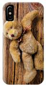 Old Teddy Bear Hanging On The Door IPhone X Case