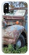Old Vintage Blue Pickup Truck Among The Weeds IPhone X Case