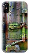 Old Weathered Railroad Boxcar Door IPhone Case