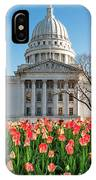 On A Bed Of Tulips IPhone Case