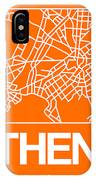 Orange Map Of Athens IPhone X Case