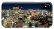 Panoramic View Of The Boston Night Life IPhone Case