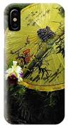 Parasol Among The Orchids IPhone Case