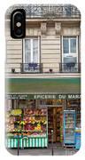 Paris Corner Grocery IPhone Case by Brian Jannsen