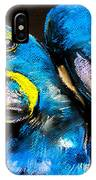 Pastel Painting Of A Blue Parrots On A IPhone X Case