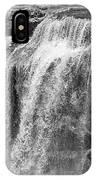 Paulina Falls Black And White Art IPhone Case by David Millenheft