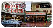Pikes Place Public Market Center Seattle Washington IPhone Case