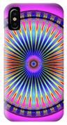 Pink Circus Sun  IPhone Case by Visual Artist Frank Bonilla