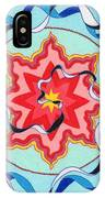 Pink, Yellow, Red Sun. IPhone Case