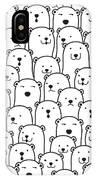 Polar Bear Vector Seamless Pattern IPhone X Case