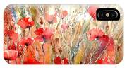 Poppy Fields Forever IPhone Case