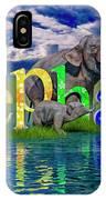 Precious E Is For Elephant IPhone X Case
