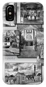 Provincetown Cape Cod Massachusetts Collage Pa Bw IPhone Case