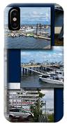 Provincetown Marina Cape Cod Massachusetts Collage IPhone Case