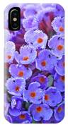 Purple Flowers In The Morning Dew IPhone Case