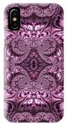 Purple Lilac Gardens And Reflecting Pools Fractal Abstract IPhone Case by Rose Santuci-Sofranko