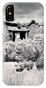 Rabbitbrush And Adobe Ruins In Sepia IPhone Case