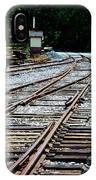 Railroad Siding Tracks IPhone Case