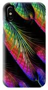 Rainbow Colored Peacock Tail Feathers Fractal Abstract IPhone Case by Rose Santuci-Sofranko