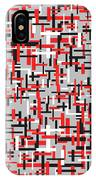 Red Black White Geometric IPhone Case