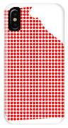 Red Dot Map Of Georgia IPhone Case