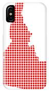 Red Dot Map Of Idaho IPhone Case