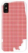 Red Dot Map Of Indiana IPhone Case