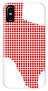 Red Dot Map Of Texas IPhone Case