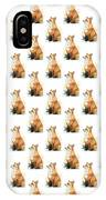 Red Fox Watercolor Pattern IPhone Case