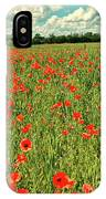 Red Poppies Meadow IPhone Case