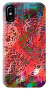 Red Swirls IPhone Case