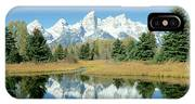 Reflection Of Mountains In Water, Grand IPhone X Case