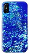 Reflection On A Blue Automobile 3 IPhone Case