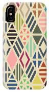 Rhombuses Seamless Pattern. Geometric IPhone Case