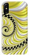 Ribbed Yellow Spiral IPhone Case