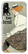 Ride A Stearns And Be Content, Circa 1896 IPhone Case