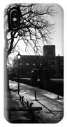 riverside walk in Haddington on winters morning IPhone Case