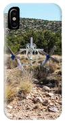 Roadside Memorial With Five Crosses IPhone Case