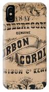 Robbertson's Kentucky Bourbon Cordial Ad C. 1857 IPhone Case