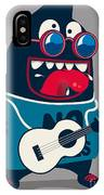 Rock Star Monster, Guitar IPhone X Case