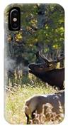 Rocky Mountain Bull Elk Bugeling IPhone Case by Nathan Bush