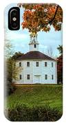 Round Church Of Richmond Vermont IPhone Case by Jeff Folger