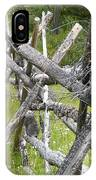 Russel Fence IPhone Case by Ann E Robson