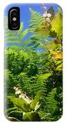 Salal Blooms Amongst The Ferns IPhone Case