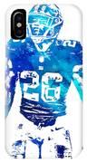 Saquon Barkley New York Giants Water Color Pixel Art 11 IPhone Case
