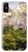 Scenic Zion - Mount Carmel Highway Drive 4 IPhone Case